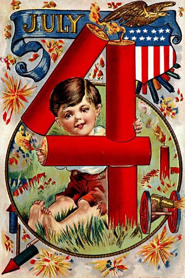 4th of July Vintage Postcard Printables