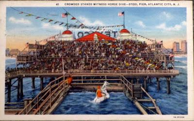 My Vintage Diving Horse Postcard