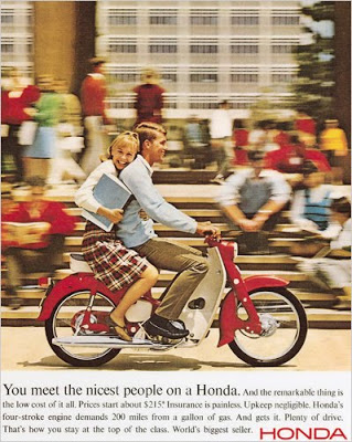 You meet the nicest people on a Honda ad from 1960's