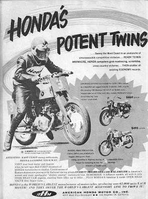 vintage advertisement for Honda Benly