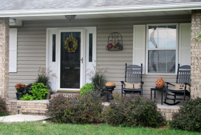 Fall front porch house of hawthornes Front porch ideas