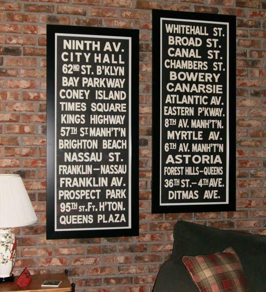 DIY Subway Sign - House of Hawthornes