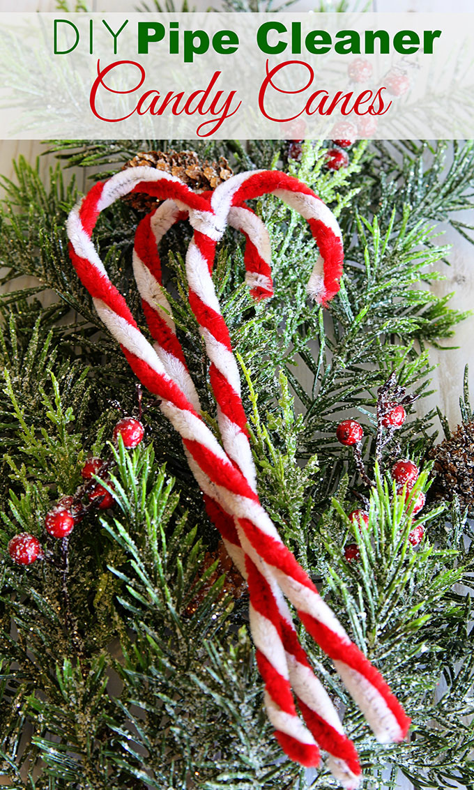 how to make pipe cleaner candy canes for christmas decor a super simple five