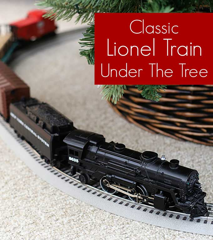A Lionel train is a fun and classic addition for under the Christmas tree!