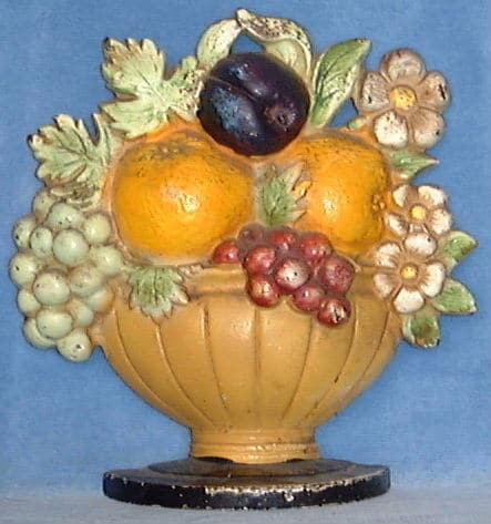 Hubley fruit basket doorstop