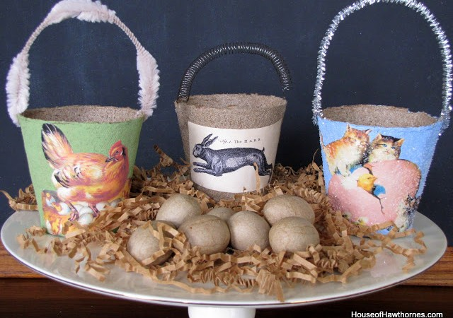 Easy Spring Peat Pot Baskets
