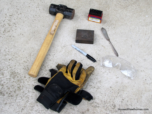 tools needed to stamp silverware