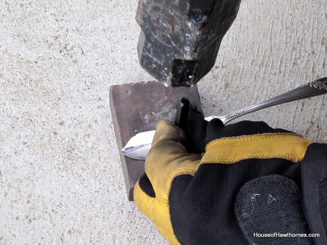 Stamping silverware