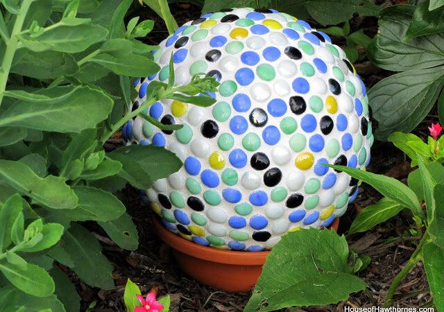 Mosaic Bowling Ball Yard Art