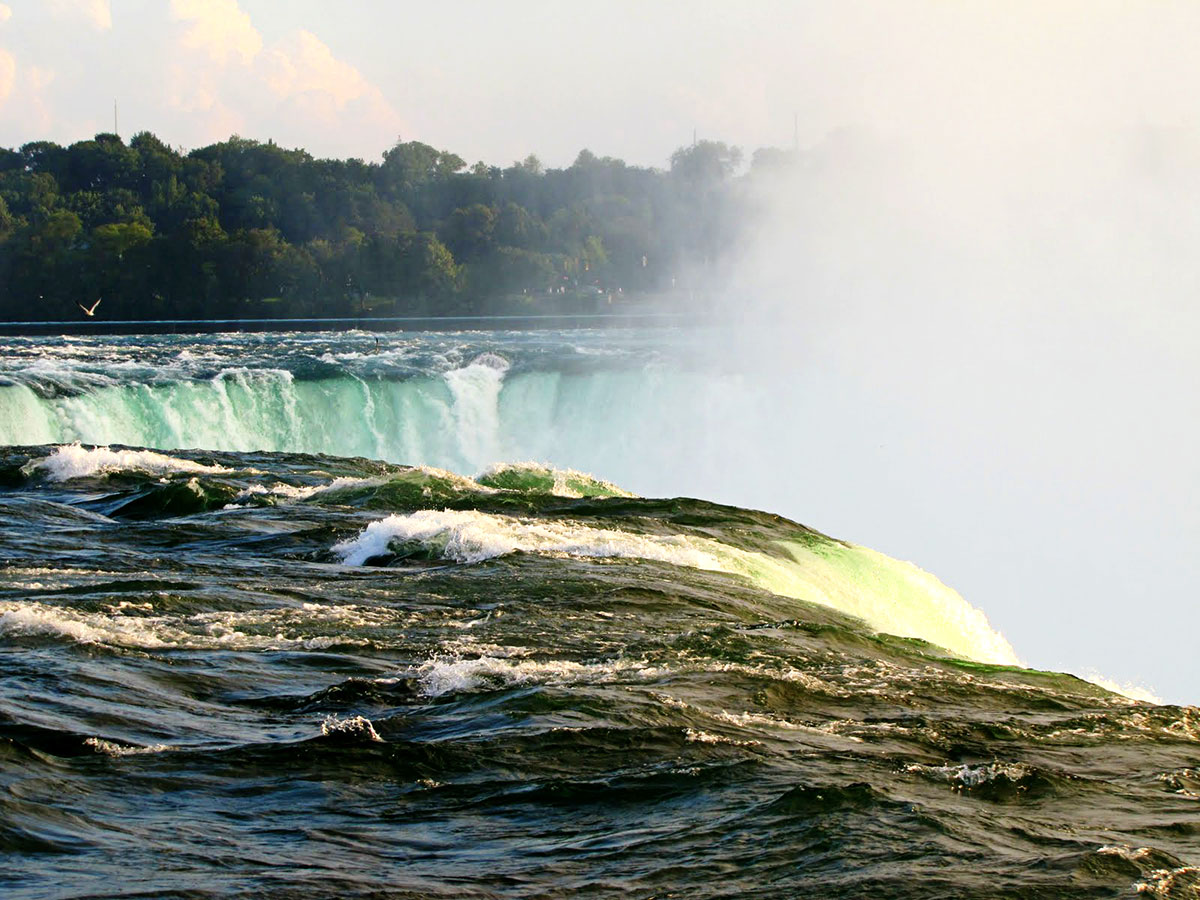 closeup of Niagara Falls