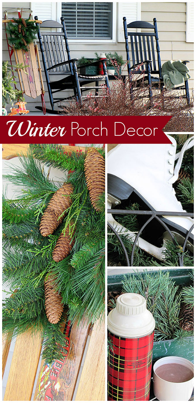 Great tips for making your front porch decor last through the entire winter season with just changing a few items out. No need to stop at Christmas!