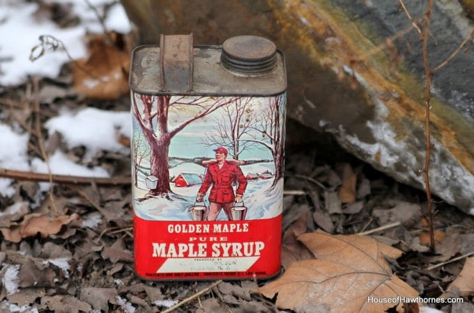 Vintage Syrup Tins