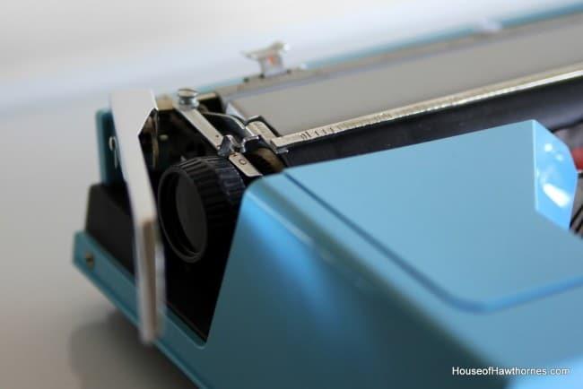 1970's Omega 30 blue Typewriter