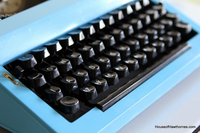 1970's Omega 30 blue Typewriter