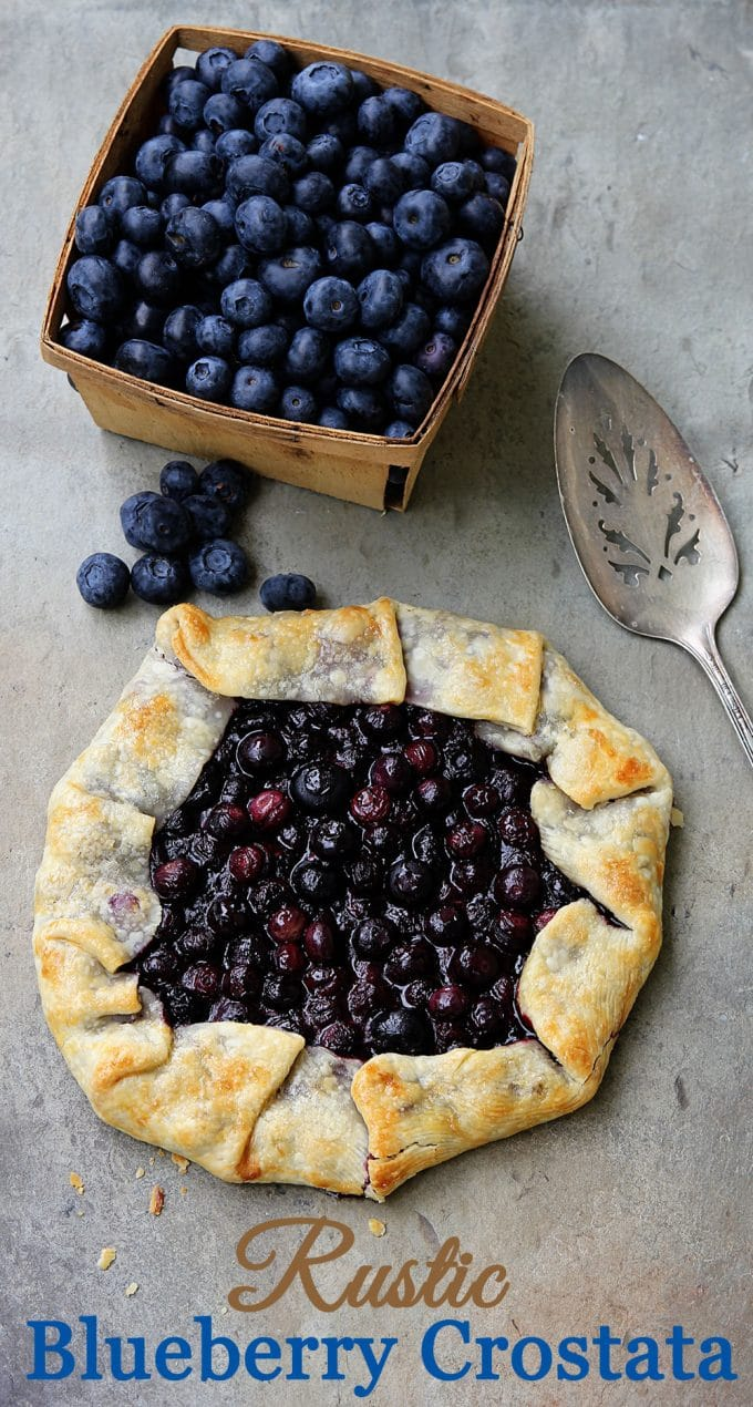 Blueberry Crostata featured as part of a collection of 6 fun And festive patriotic desserts for your summer get togethers, picnics and parties!