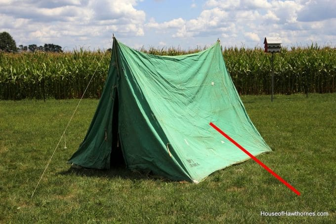 When we were setting up the tent those popped off the side. Both of them. I think it was canvas rot because of age or something. & Pup Tent - House of Hawthornes