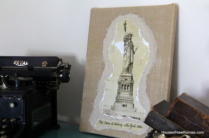 Burlap Mod Podge Project
