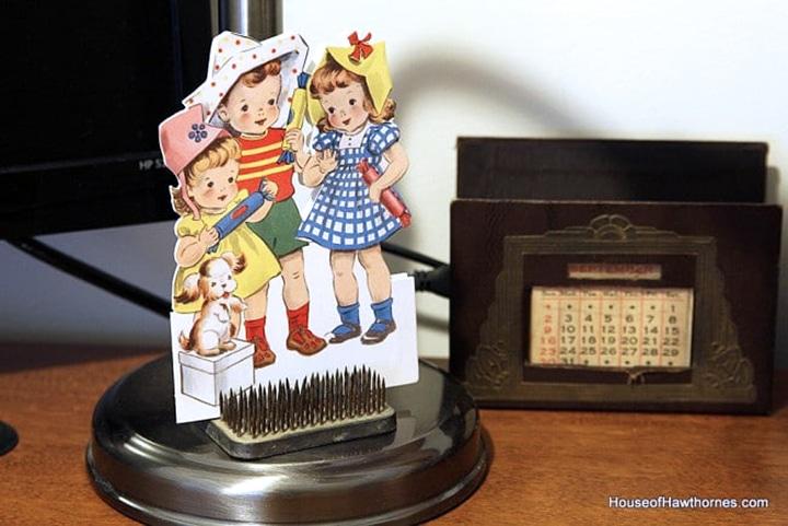 Vintage style birthday card.
