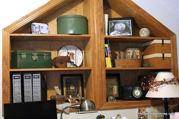 Vintage style office decor ideas.