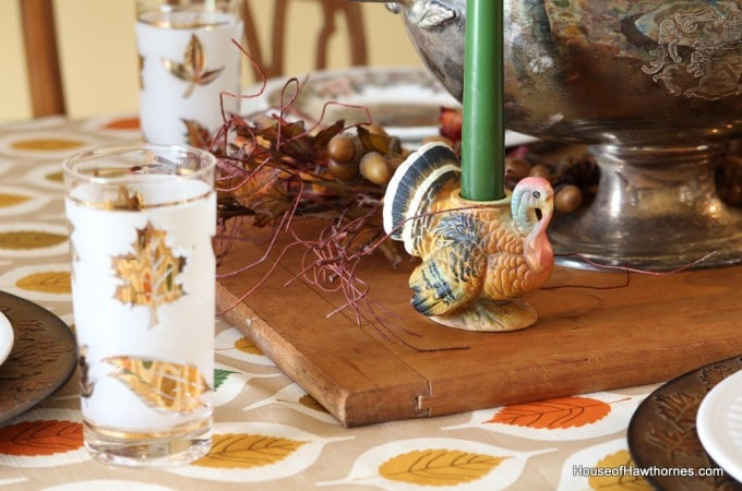 Thrift Store Thanksgiving Tableware