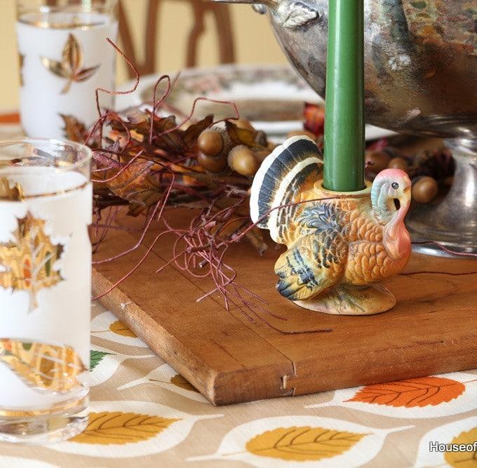Thrift Store Thanksgiving Tableware