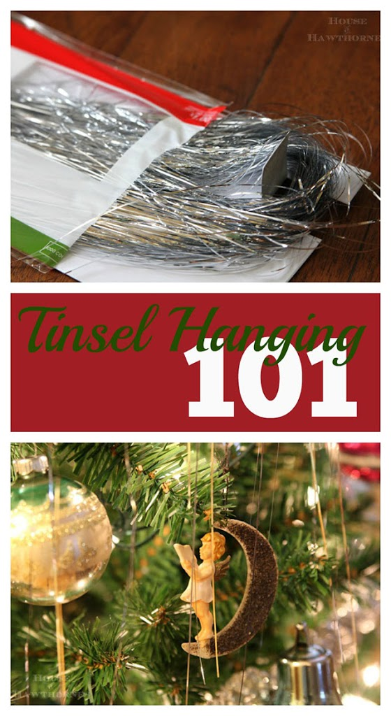 Amusing look at how to hang tinsel on your Christmas tree.  Great for a vintage Christmas look!