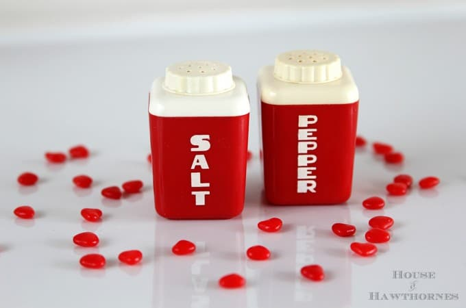 Red Salt & Pepper Shakers