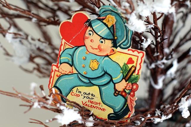 Vintage Valentines Day Display