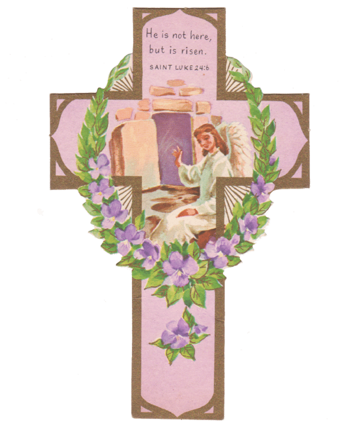 Vintage Easter Cross Printables - House of Hawthornes