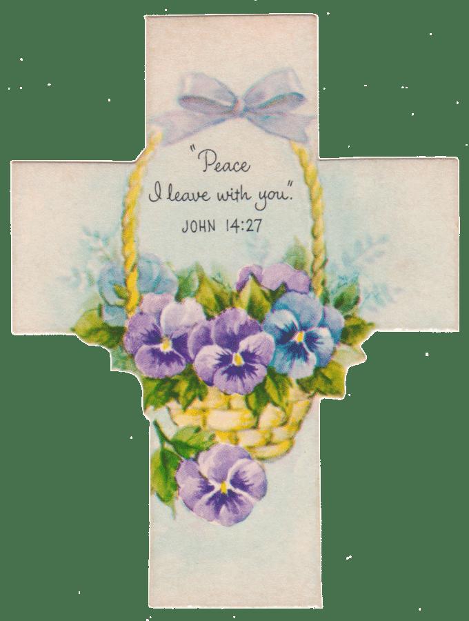 Vintage Easter Cross Printables