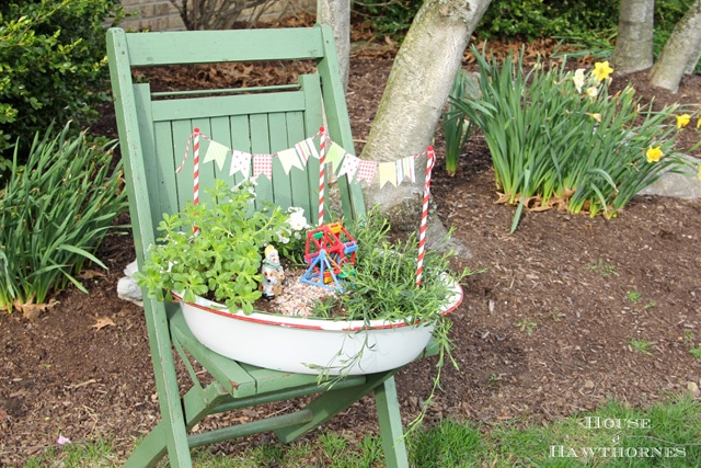 A super cute DIY circus themed fairy garden