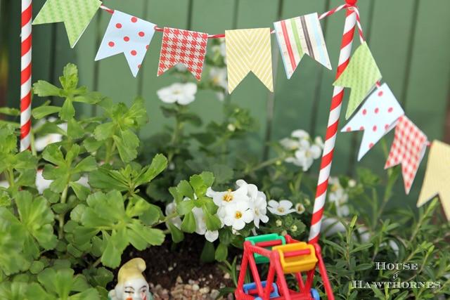 A super cute DIY circus themed fairy garden