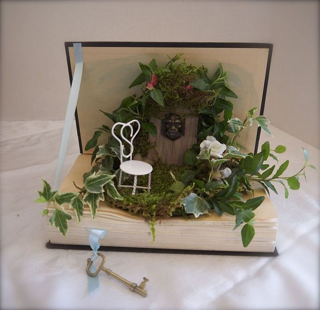 Fairy Garden in a book