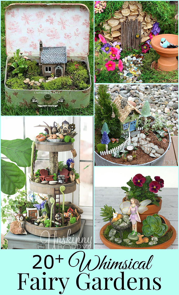 tons of diy fairy garden ideas including many unique and easy to make miniature accessories