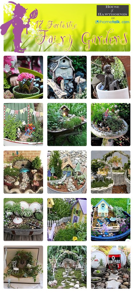 TONS of DIY fairy garden ideas including many unique and easy to make miniature fairy garden accessories!