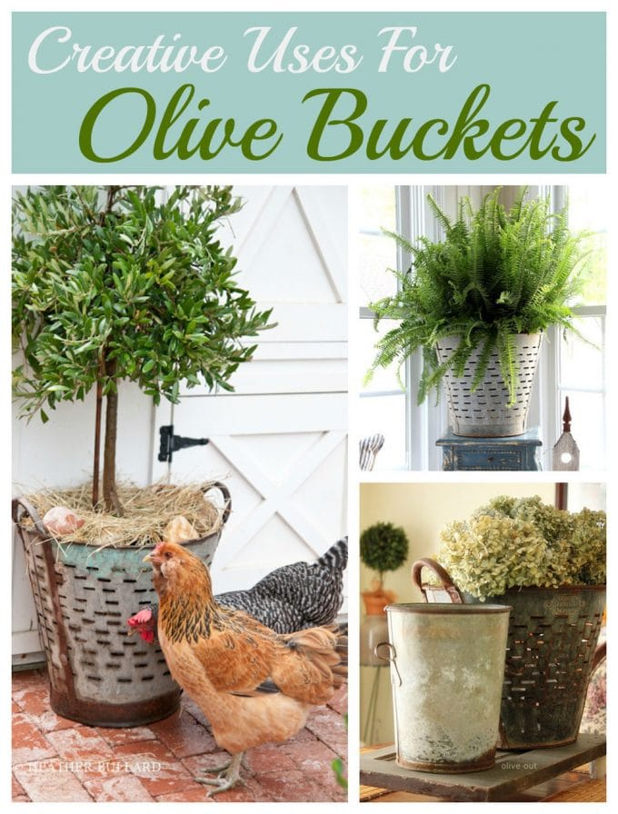 Using Olive Buckets In Your Home Decor
