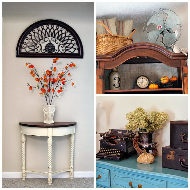 Fall home decor with a vintage flair @ houseofhawthornes.com