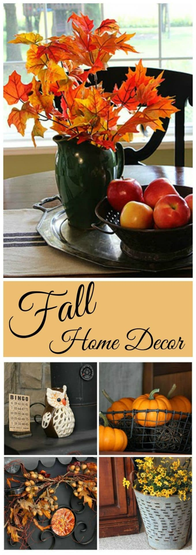 A fall home tour with a vintage flair!