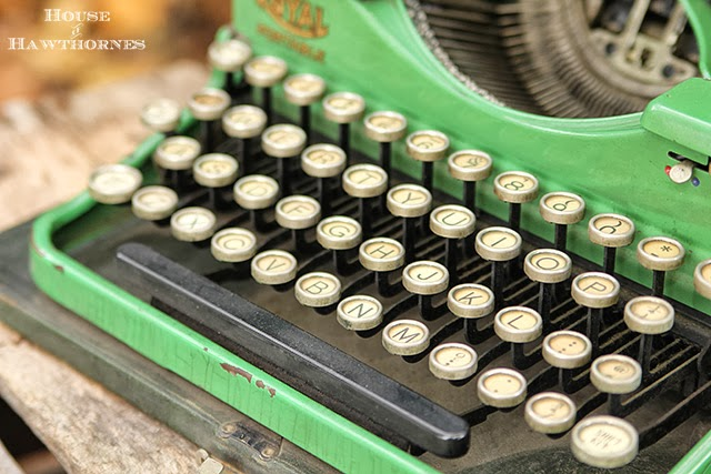 Vintage green portable Royal typewriter @houseofhawthornes.com