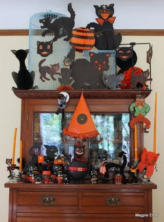 Vintage Halloween black cats at Magpie Ethel's @ magpieethel.typepad.com