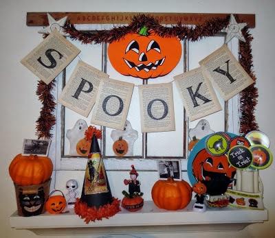 Vintage Halloween decor at Monkeybox @ mydealoftheday.blogspot.com