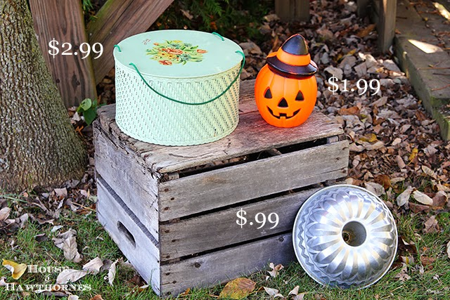 Thrift Haul with vintage sewing kit and Halloween blow mold @houseofhawthornes.com
