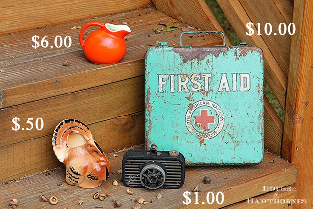 Thrift store haul with vintage Red Cross first aid kit @ houseofhawthornes.com