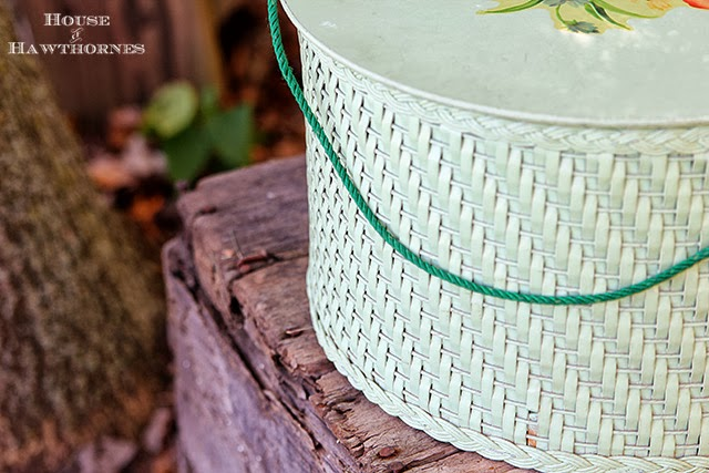 Thrift Haul with vintage wicker sewing kit @houseofhawthornes.com