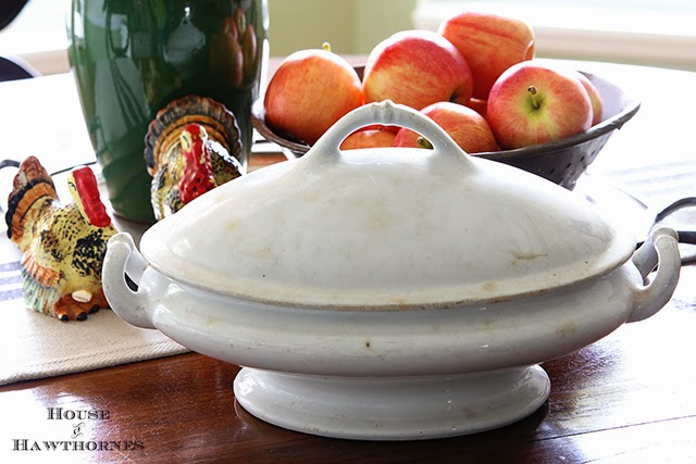Vintage Ironstone tureen found at an estate sale
