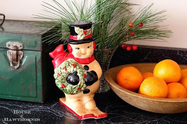 Vintage look snowman