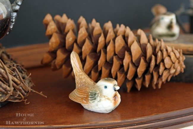Using china birds in your modern country decor without looking like your Grandma decorated for you