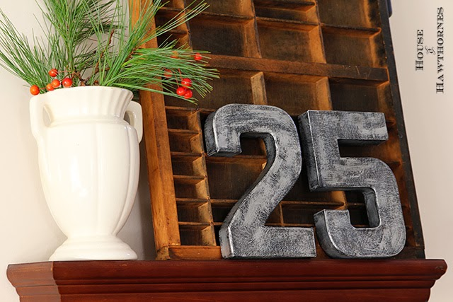 DIY faux zinc letters and numbers - great trendy industrial look and super easy to make!
