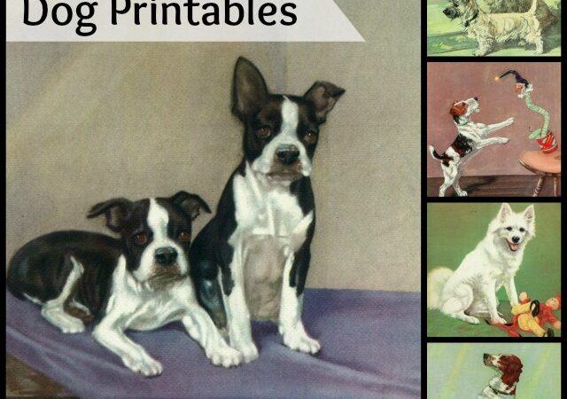 Vintage Dog Printables