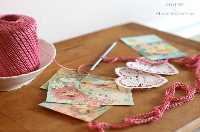 Thrifty And Super Easy Valentine's Day Garland